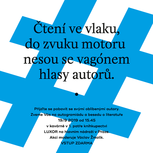 Pozvánka na Čtení ve vlaku 16.–19. 9. 2019